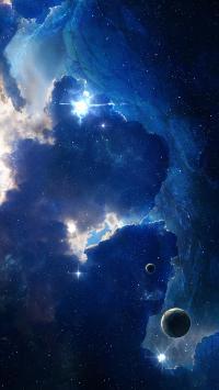 宇宙 太空 星球 蓝色 银河 神秘