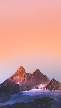 晚霞 山峰 自然 壮观