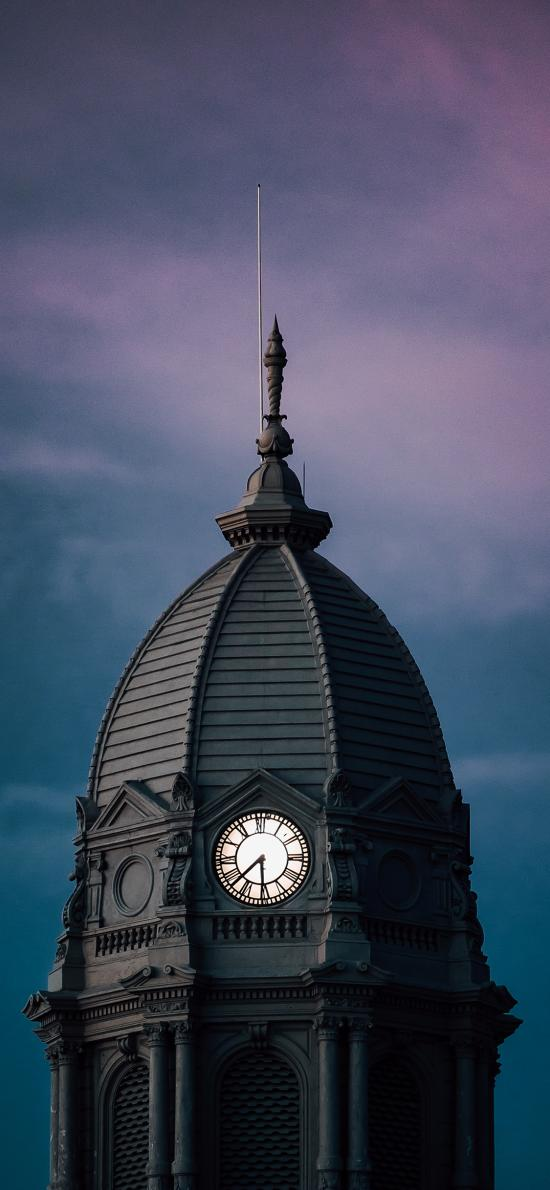 建筑 堡垒 欧式 时钟