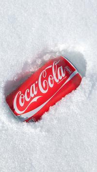 可口可乐 汽水 碳酸饮料 雪地