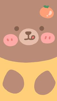 小熊 橘子 腮红 大脸 吐舌