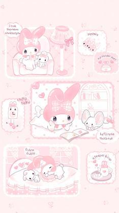 美乐蒂 粉色 三丽鸥 卡通 动画