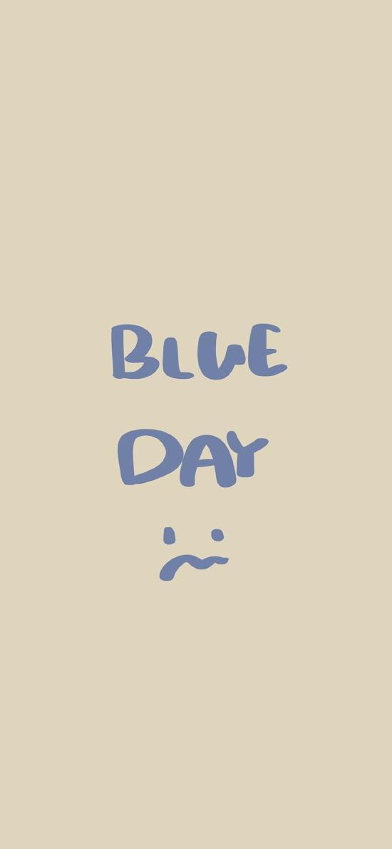 忧郁的一天 blue day 表情 伤心 英语 英文