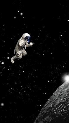 宇航员 太空 宇宙 星球 黑色