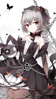 动漫 少女 暗黑系 哥特
