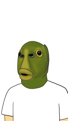 绿鱼人 搞怪 头套 面具