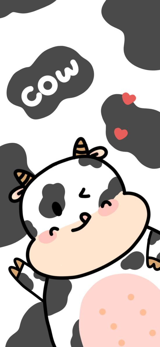卡通 奶牛 cow 可爱