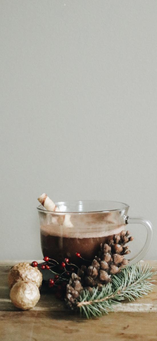 饮品 咖啡 巧克力 松果