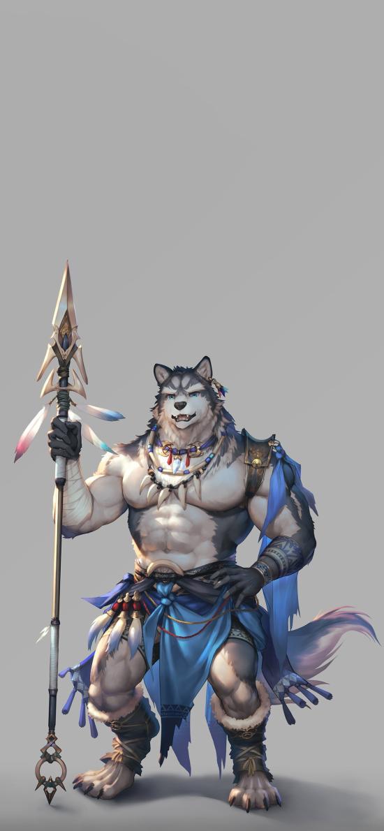 狼人 战士 腹肌 游戏